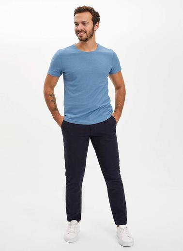 DeFacto Slim Fit T-Shirt Mavi